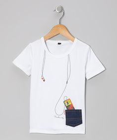 White Music Pocket Tee - Toddler & Kids by Knuckleheads on #zulily #cutiestyle