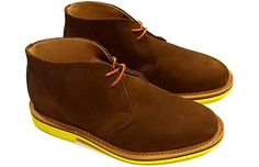 Mark McNairy New Amsterdam Chukka Boot with contrasting sole.
