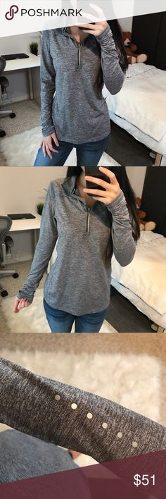 "[Nike] Heathered Gray Workout Quarter Zip NWOT  🌿 Details in the last picture  Get a FREE item! Check out items with ""FREE"" in the title and read the descriptions to find out how! Nike Tops Tees - Long Sleeve"