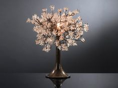 Table light. Natural transparent flowers. by yehudalight on Etsy, $149.00  I only hope it's still available by the time I could afford it...