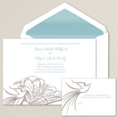 Antique Lovebird Wedding Invitation we love the elegance, what do you think?