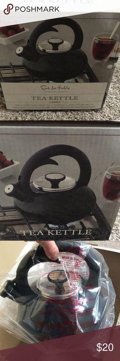 NEW Sur La Table Tea Kettle NEW in box Sur La Table Black Tea 2 qt. Kettle sur la table Other