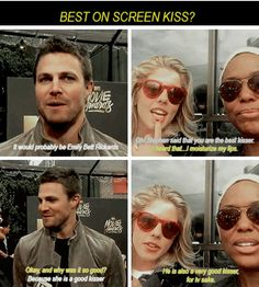 Stephen & Emily - Confirmed the two best on-screen kissers #Stemily #Olicity