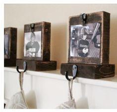 DIY photo stocking holders