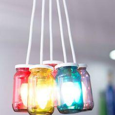 "#DiwaliDecor #FabFurnish for a diwali which brings brightness into everyone's lives from fabfurnish ""PoppadumArt Technicolor Jam Lamp""."