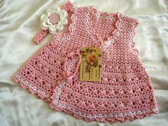Pretty Crochet baby Dress Pattern. More Patterns Like This!