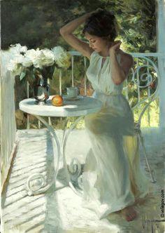 """White Peonies"" ~ Vladimir Volegov"
