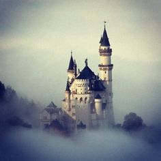 castle in the clouds - well, actually, my oldest son and my youngest daughter visited this one!  And brought me a model that I can hold in my hand!