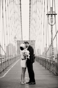 A wedding photo shoot on a bridge makes an iconic #CityWedding shot.