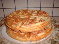Belgian Waffles - Waffle Maker - Ideas of Waffle Maker - Belgium Waffles- Going to try this recipe this morning. My boyfriend has convinced himself that you dont need a belgium waffle maker to make Belgium Waffles Waffle Recipe No Butter, Easy Belgian Waffle Recipe, Simple Waffle Recipe No Milk, Waffles Recipe No Milk, Belgin Waffle Recipe, Breakfast Dishes, Breakfast Recipes, Breakfast Pancakes, Gourmet