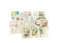 1950's Used Wedding Shower Cards 23 Cards by EclecticEmbrace