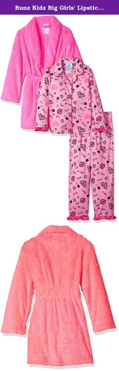5f91e64894 Bunz Kidz Big Girls  Lipstick Is Poppin Robe and Pajama Set