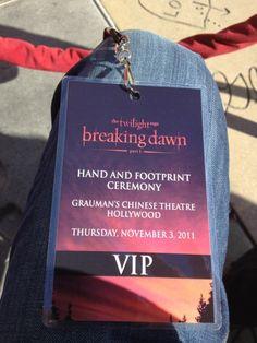 JACK MORRISSEY'S KNEE  Hand and Footprint Ceremony  Lautner, Pattinson, Stewart