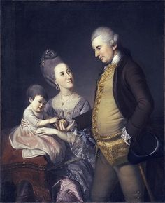 John and Elizabeth Lloyd Cadwalader and their Daughter Anne, by Charles Willson Peale (1741-1827)