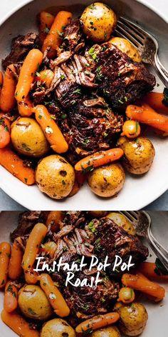 Healthy Pot Roast, Best Pot Roast, Crock Pot Roast, Roast Recipe Easy, Roast Beef Recipes, Instapot Roast Beef, Pressure Cooker Pot Roast, Pressure Cooker Recipes, Fall Dinner Recipes