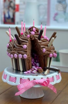 Giant Chocolate Cupcake with a Surprise Inside