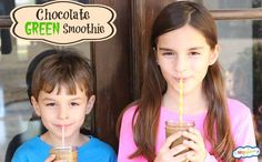 """chocolate green smoothie kids will LOVE! I know it seems too good to believe it... but it has zero """"green"""" taste!"""