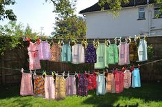 A line of dresses just so pretty....great for a mission trip project.  The Haiti children love them.