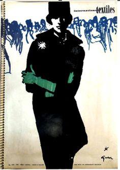 International Textiles, No. 332 (1960) by René Gruau