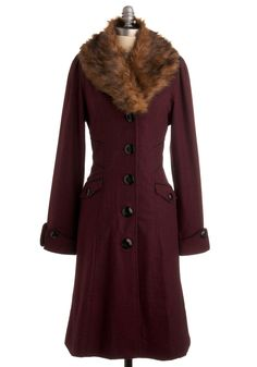 You can be one classy dame in this retro-style coat.