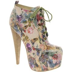 ALDO Rise x Preen Rosann Print Platform Heeled Ankle Boots ($160) ❤ liked on Polyvore