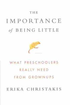 """""""The Importance of Being Little""""  kids need less structured learning and more free play time"""