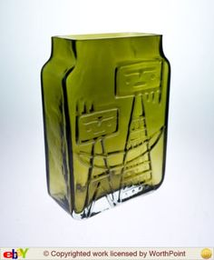 Wiktor Berndt for Flygsfors Kosta Boda, Teak Furniture, Porcelain Ceramics, Retro, Mid-century Modern, Scandinavian, 1960s, Glass Art, Sculptures