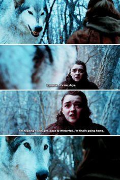Arya Stark & Nymeria (7x2)