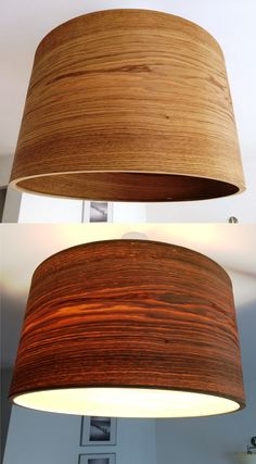 White Oak Veneer Lampshade. The first one