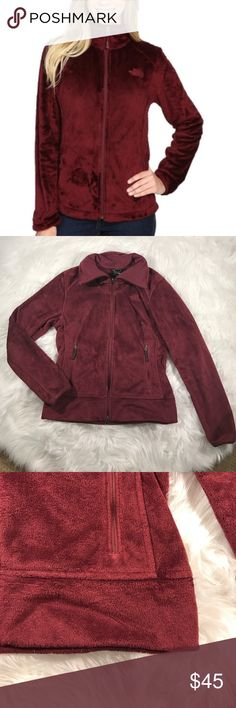 • The North Face • Deep Garnet Osito Jacket Small - The North Face - Osito 2 Jacket - Size Small Petite - Deep Garnet - Excellent Condition The North Face Jackets & Coats