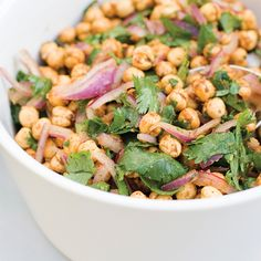 Indian Poppy Chickpea Salad Recipe - Food and Recipes - Mother Earth Living