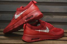Nike Air Max Thea Running Shoes Red Blinged Out by NYCustoms Nike Air Max 71d1d3570c