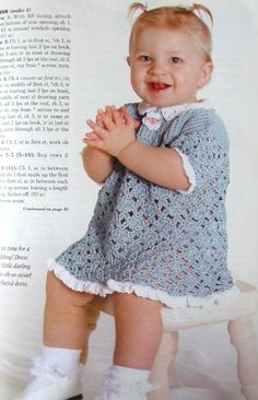 toddler dress from Crochet World June 2005; available in the Crochet World Collection