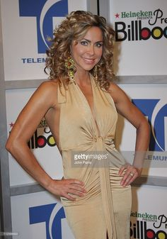 Actress Aylin Mujica attends the Billboard Latin Music Awards host announcement press conference March 4, 2008 at Telemundo Studios in Hialeah, Florida.