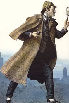Detective Fix - something this identifiable as a detective - nod to Sherlock Holmes? Or is it too far to go with the deerstalker cap and inverness cape? Maybe just one or the other?
