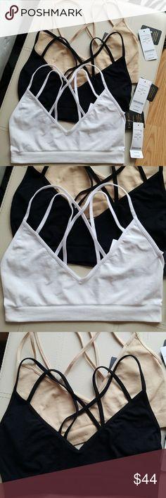 387b63673f 3 NWT Bebe S Sexy Bralettes Nude Black White 🌹💗 Brand new w.tags