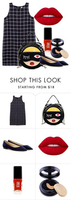 """""""Untitled #17"""" by dashthatfash ❤ liked on Polyvore featuring Olive + Oak, Jimmy Choo, Lime Crime, JINsoon and Estée Lauder"""