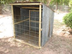 Since I move my goat pen from location to location around the farm, I wanted to build a fairly light-weight shed that I could move along with the pen. As with most of my projects I recycled a lot … Sheep Shelter, Goat Shelter, Mini Cows, Mini Farm, Small Goat, Small Farm, Portable Sheds, Sheep Pen, Goat Shed