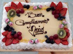 Blue Birthday Cakes, Cake Decorating Tips, Cake Toppings, Biscotti, First Birthdays, Elle Decor, Fruit, Creative, Chiffon