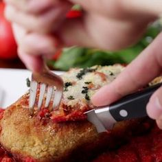 Prepare Yourself For Complete Satisfaction With This Stuffed Chicken Parmesan - Recipes I Love Food, Good Food, Yummy Food, Tasty Videos, Food Videos, Cooking Videos, Cooking Recipes, Healthy Recipes, Food To Make