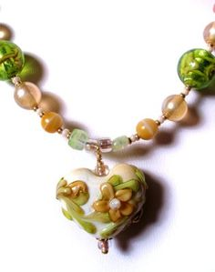 lampwork beads necklace