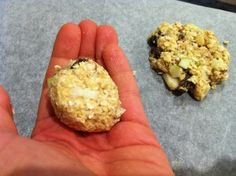 The Best Fruit & Nut Sugarless Flourless Oat Cookie Recipe - Rolling the Mixture