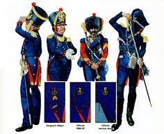 "FRANCIA - ""Foot Artillery of the Line"" • Officer 1813-1814 campaign dress • Officer 1809-181 service dress • Drum-Major 1st Regt. 1807-1812 campaign dress • Officer 1808-1814 Peninsula campaign dress Emir Bukhari"