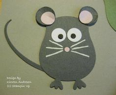 By Kirsten Andresen. Mouse from the Stampin' Up owl punch.