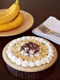 Vegan Banana Cream Pie 4 All - This rich & delicious pie recipe is naturally dairy-free, and vegan, optionally gluten-free and top allergen-free!