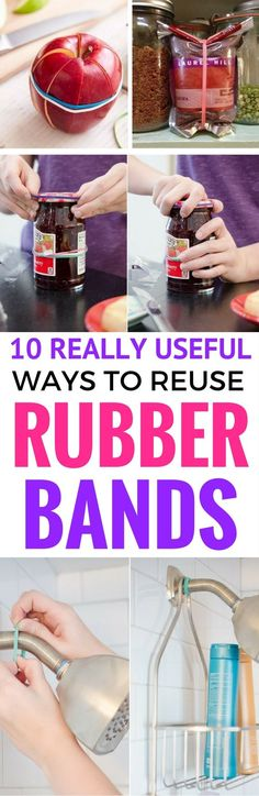 10 Easy Rubber Bands Crafts And Hacks - Learn how to reuse rubber bands in your home with these easy diy hacks. Rubber bands can actually be really useful around the home!