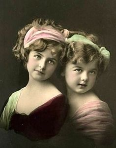So sweet - I wish I knew who they were, I've seen them on many vintage postcards.