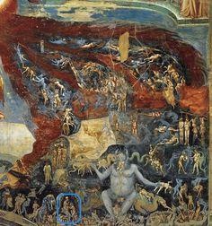 Giotto - Inferno // Detail aus Il Giudizio Universale / The Last Judgement / Das Jüngste Gericht // Cappella degli Scrovegni, Padova // 1303-05