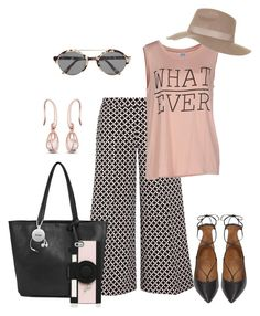 """""""Casual Summer"""" by kimberlyn303 on Polyvore featuring Illesteva, MICHAEL Michael Kors, Vero Moda, Aquazzura, Topshop, Kenneth Cole Reaction and Kate Spade"""