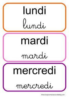rituel de la date - Autism Education Autism Education, Education Logo, French Classroom Decor, Preschool Math, Kids Prints, Home Schooling, Montessori, Etiquette, Phonics